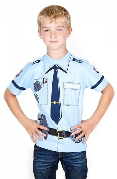 Polizei T-Shirt blau