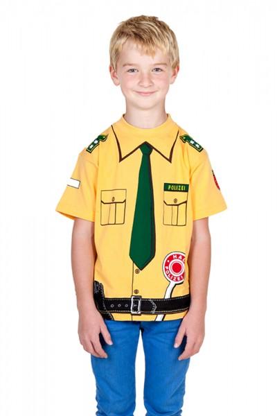 Polizei T-Shirt gelb - Größe 164