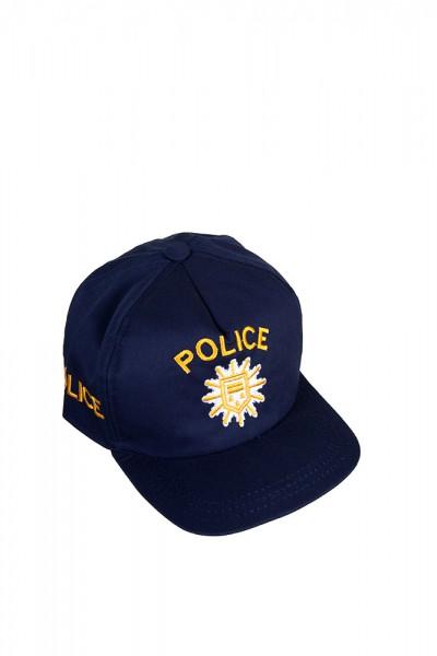 Police Basecap blau