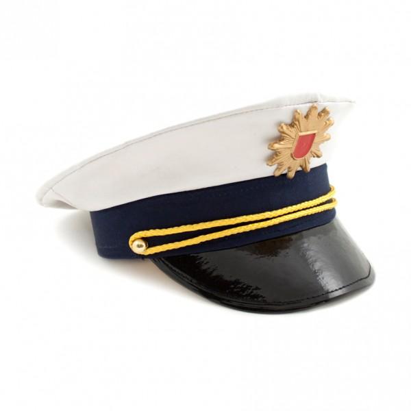 Polizeimütze blau/weiss